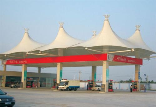 新型膜结构加油站