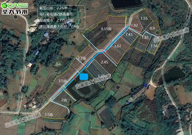 四川德阳48亩葡萄园水肥一体化滴灌解决方案