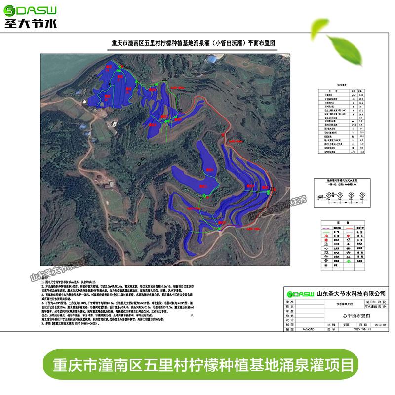 重庆市潼南区五里村柠檬种植基地涌泉灌项目水肥一体化方案设计