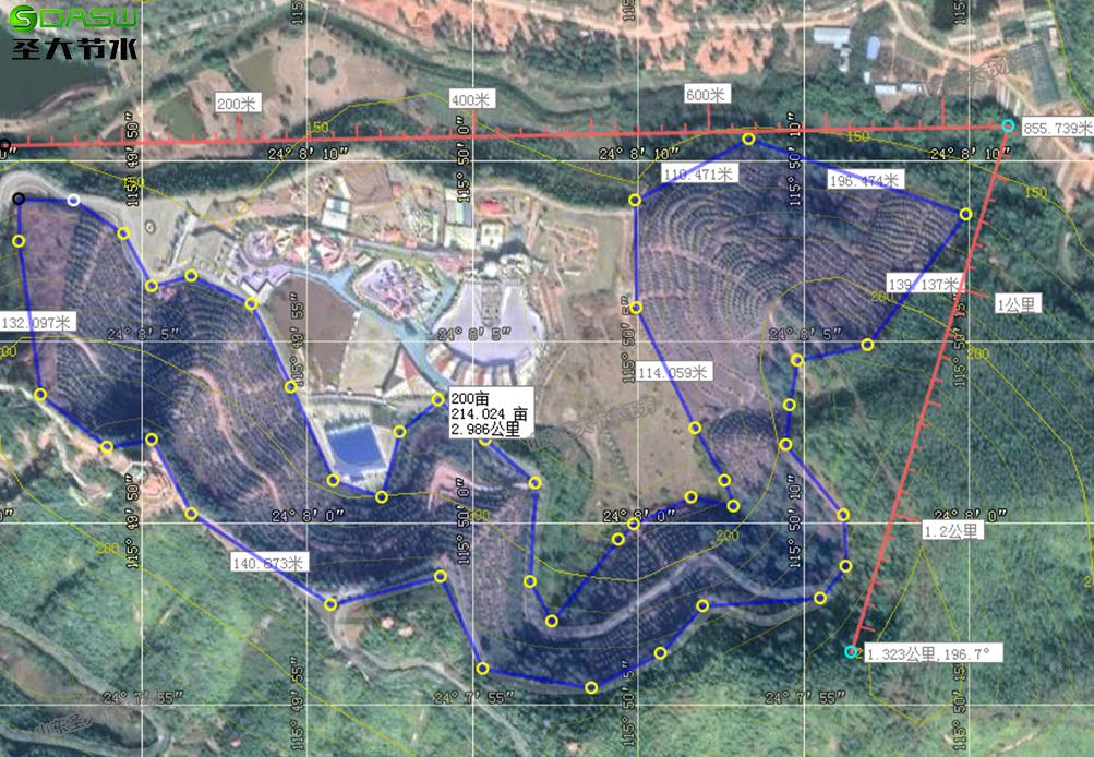 广东梅州500亩柚子园水肥一体化方案清单预算