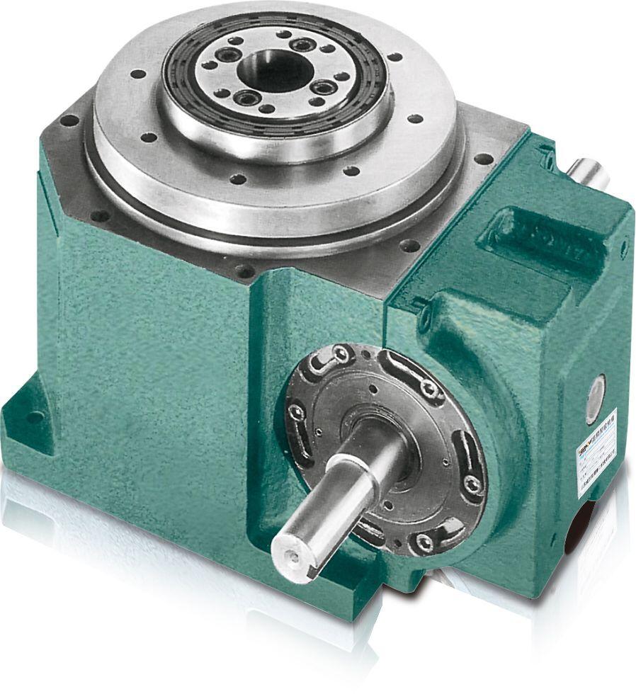 间歇凸轮分割器具有重负荷特性,可承受较大的垂直径向或轴向压力,其输出轴为法兰盘式设计,有凸缘中心、盘