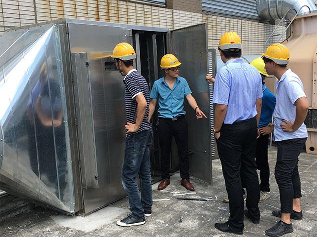 废气处理设备安装调试现场