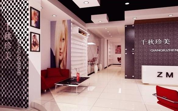 美容店形象墙设计