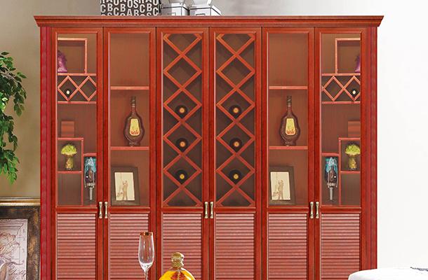 仿木全铝酒柜