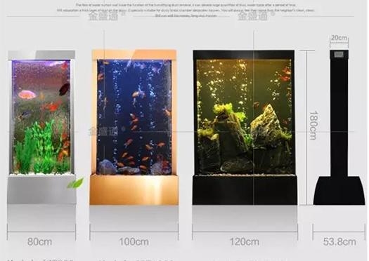 水幕墻魚缸