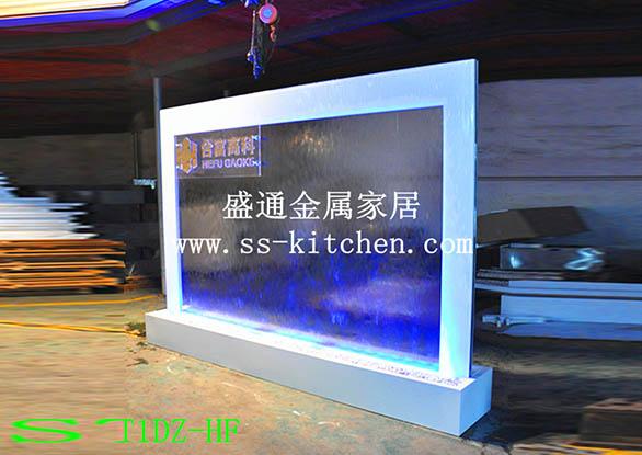 水幕墻工程案例-公司形象上海大眾款流水水幕墻屏風