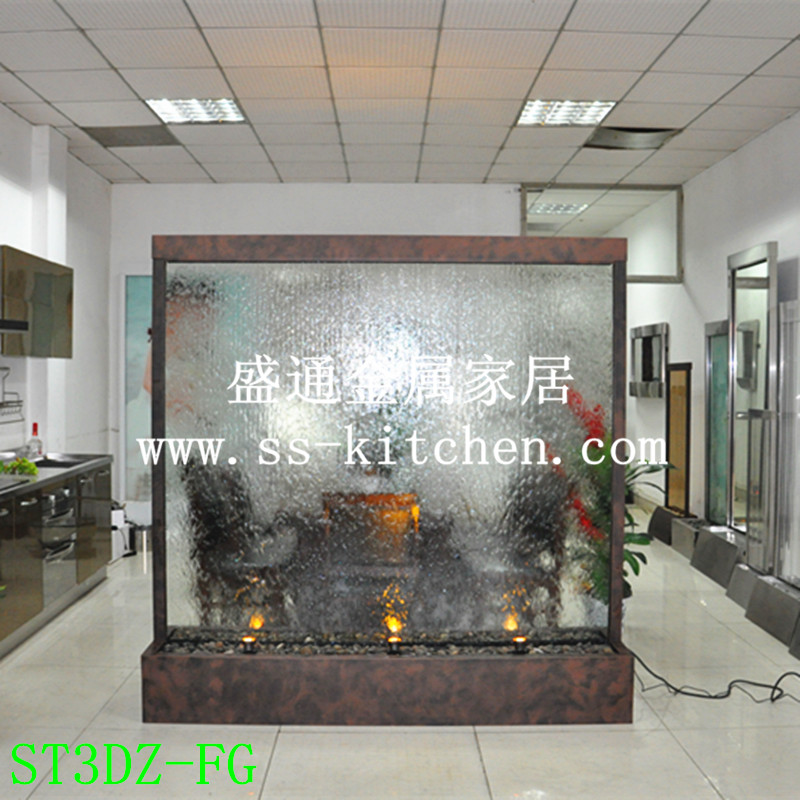 定制公司形象水幕墙 流水墙 玻璃水幕墙