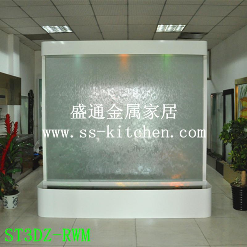 定制 玻璃水幕墻 公司形象風水擺件  流水墻