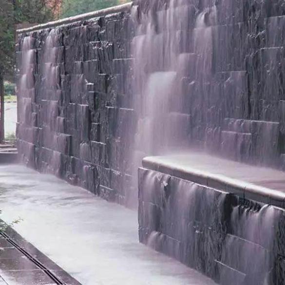 公园流水墙