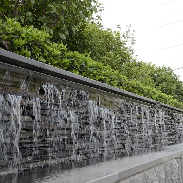 户外景观流水墙