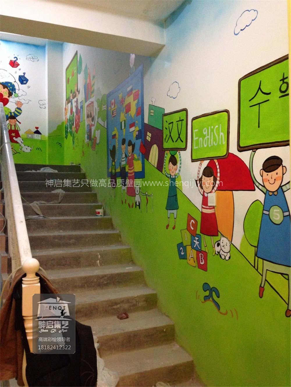 幼儿园墙体彩绘最突出的特点