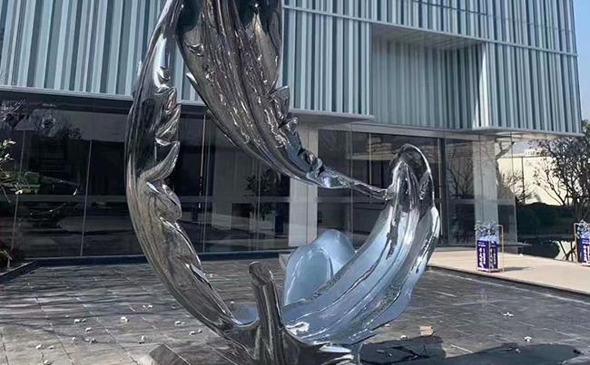 不銹鋼羽毛雕塑