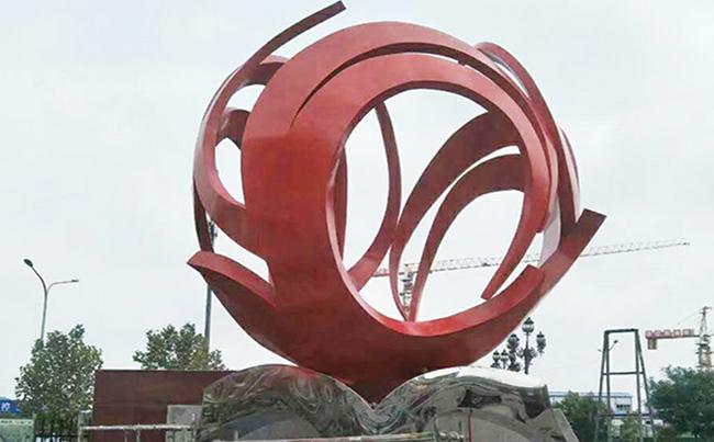 广场不锈钢创意雕塑