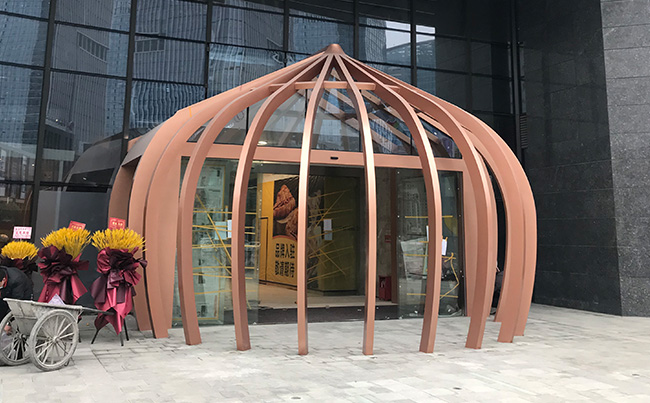 商场门造型雕塑