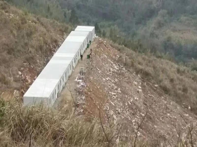成都四季居折叠房出租甘孜县巴塘县工地安装案例