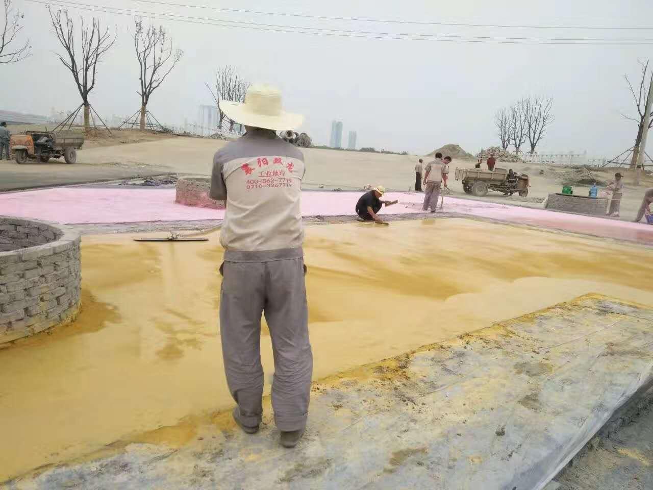 中豪襄阳国际商贸城压模地坪