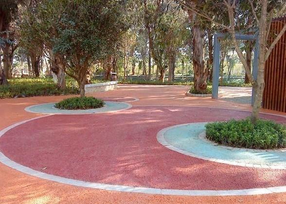公园彩色透水地坪