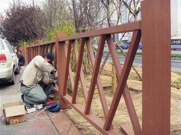 公园护栏施工