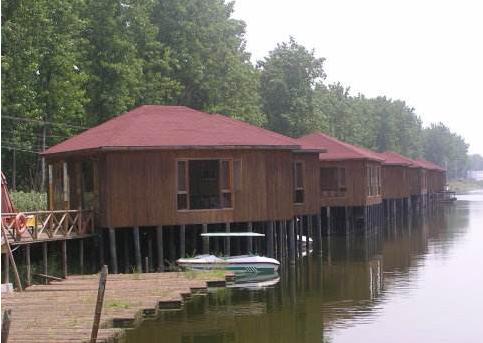 旅游景区木屋
