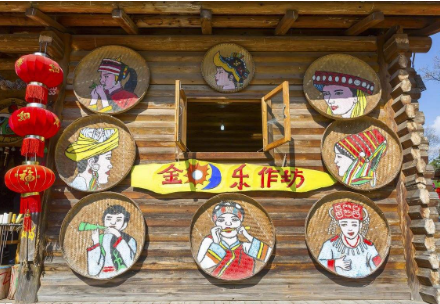 特色景区木屋