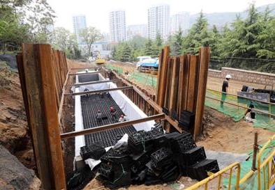 喀斯特地貌海棉城市渗排储系统
