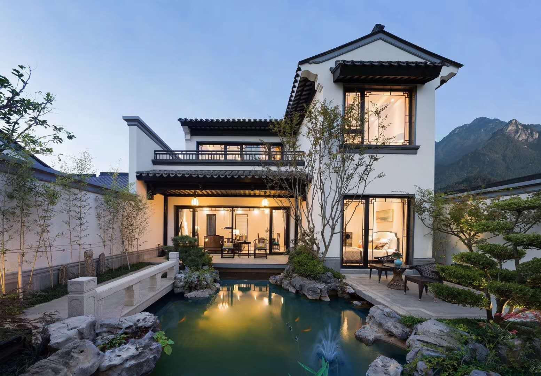 三台中式农村别墅外墙装修效果图