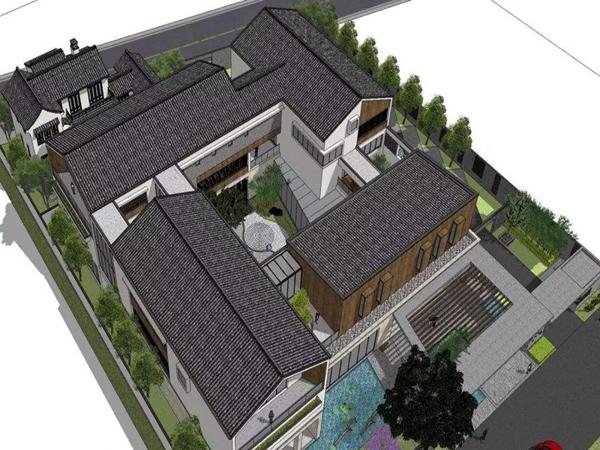 中江中式别墅外墙装修