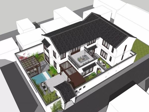 三台自建中式房子装修