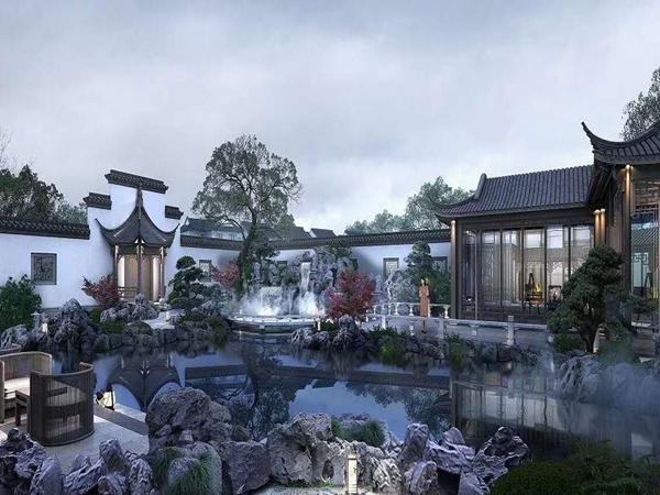 中江别墅后花园中式风格设计案例