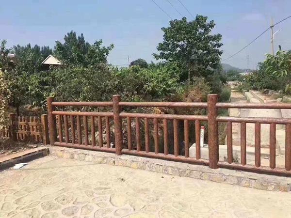 水泥为原料的新型仿木栏杆