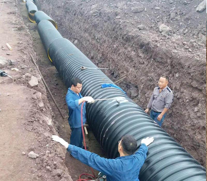 西安钢带增强螺旋管施工