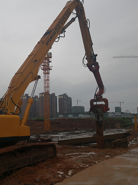 咸阳工地拉森钢板桩施工