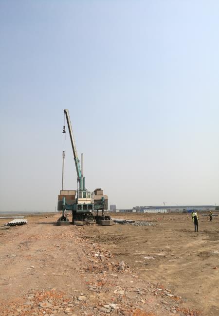 咸阳原上素土挤密桩施工