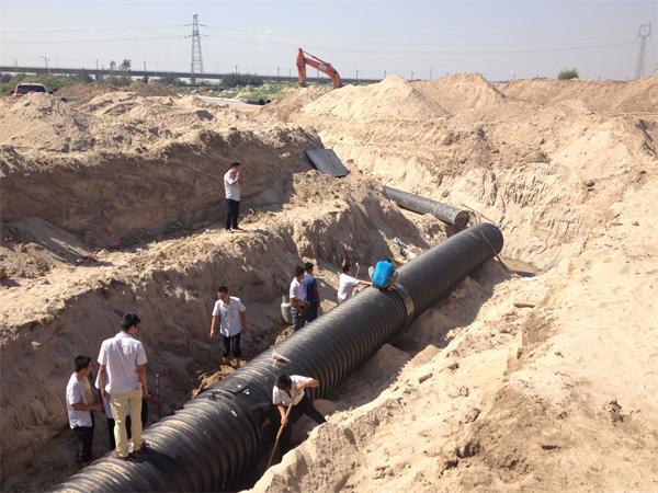 市政排水管施工中