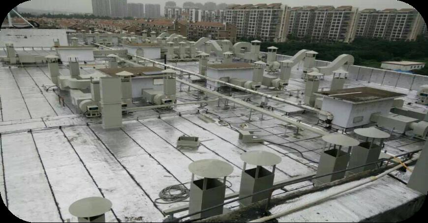 居民楼通风设备安装现场