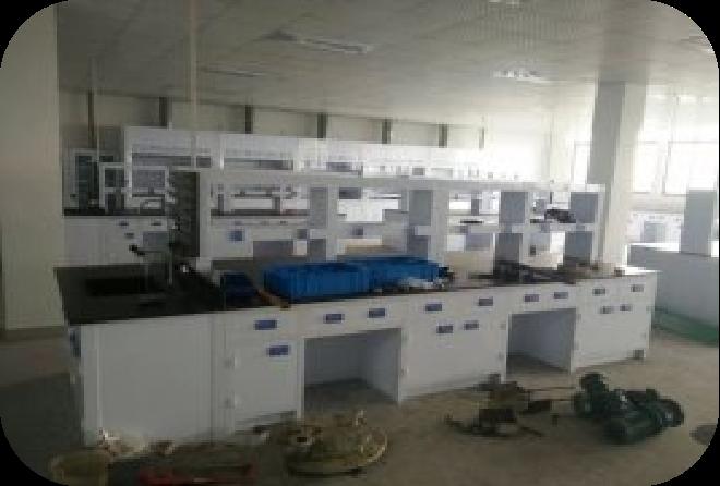 实验室中央实验桌安装