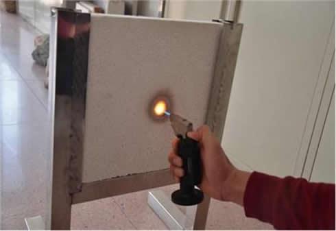 真空板防火实验
