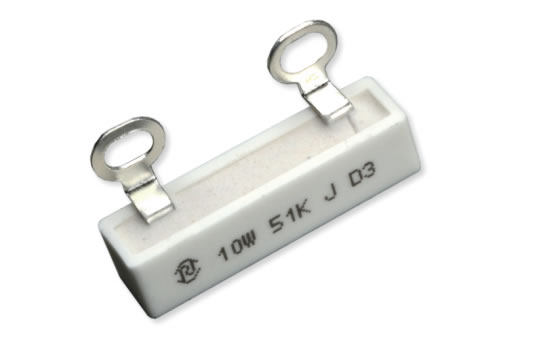 RX27-7-10W瓷外壳功率型线绕电阻器