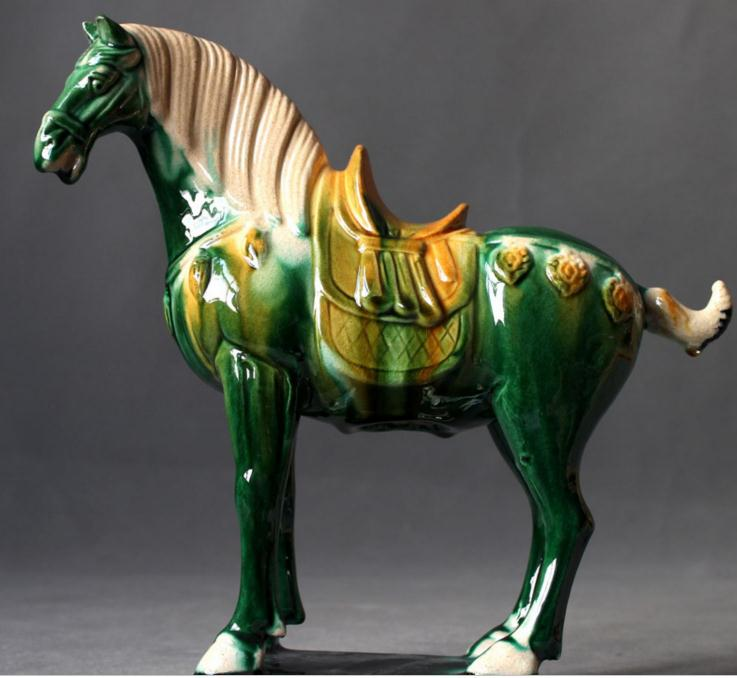 陜西工藝品定制,中國唐三彩馬駱駝,精致工藝,免費設計,免費打樣,全國送貨