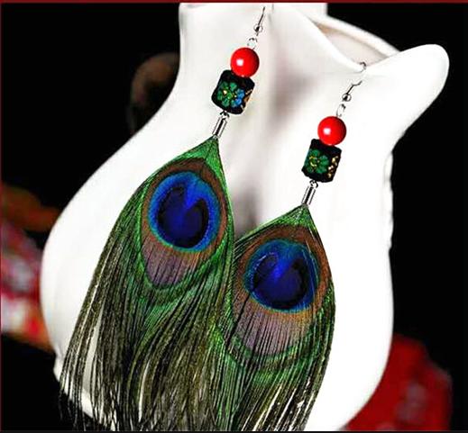 孔雀羽毛装饰品