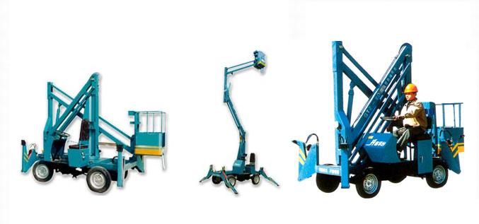 曲臂式升降平台采用优质结构钢,单面焊接双面成型工艺