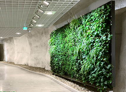 植物墙是并不占用人居环境空间的绿化方式