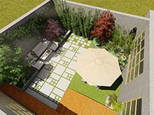 紫汀苑下沉式庭院景觀設計