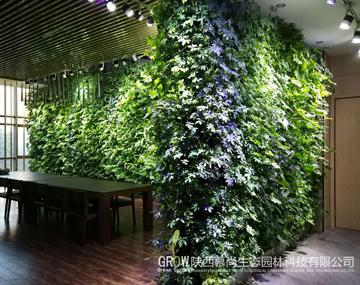 高新王西京美術城室內植物墻