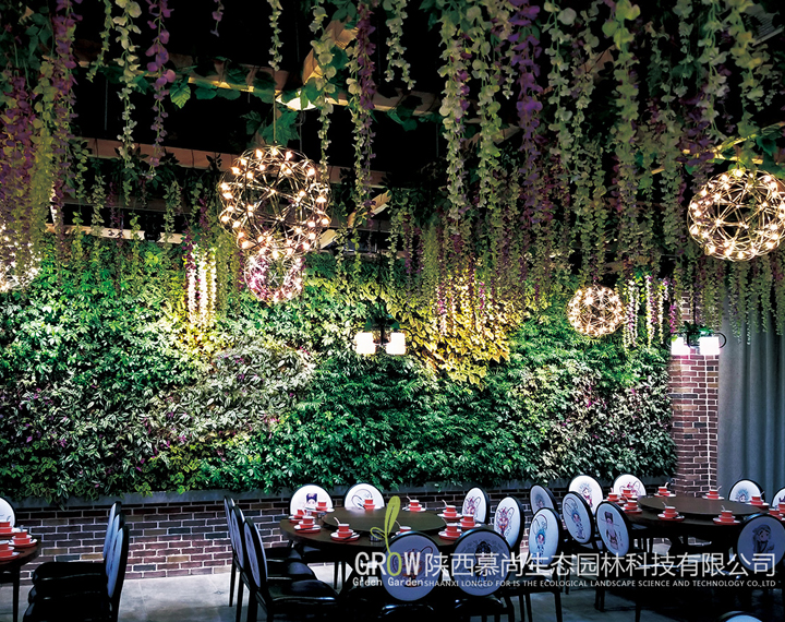 寶雞餐廳立體綠化墻
