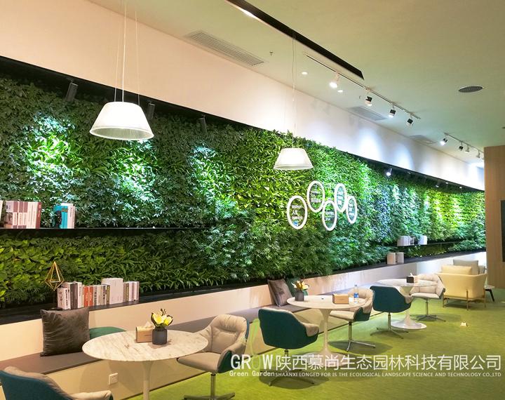 昆明路際華國際未來中心售樓部植物墻