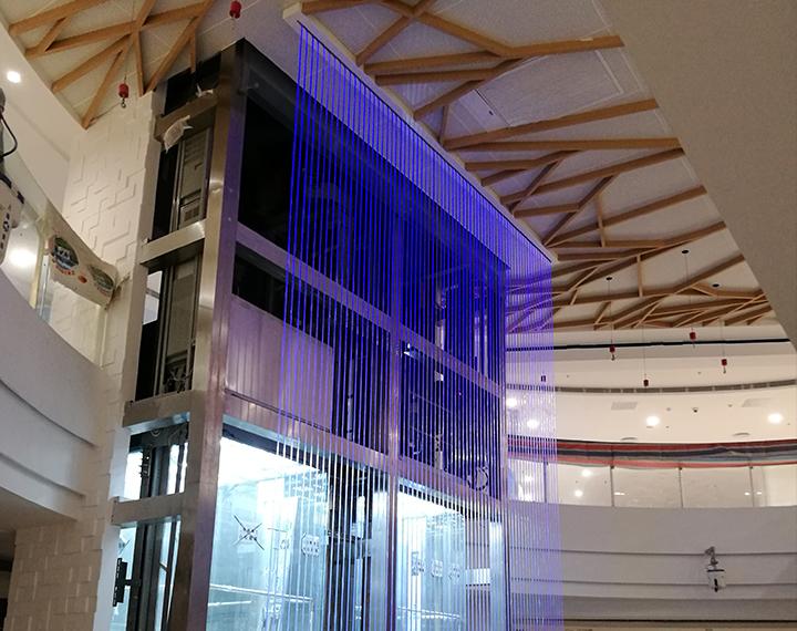 購物中心光纖水幕