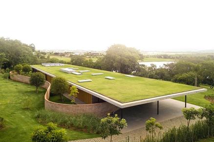 草坪屋顶绿化