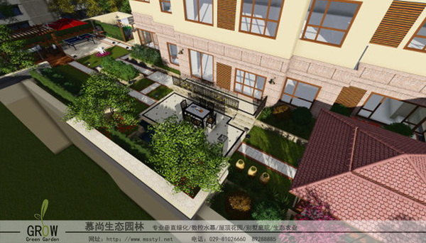 輕型屋頂綠化