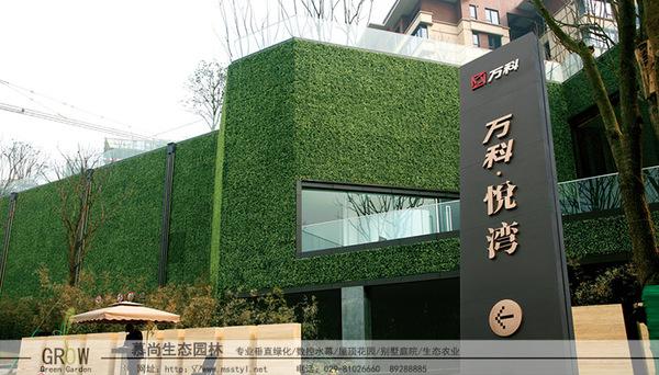 立体仿真植物墙制作